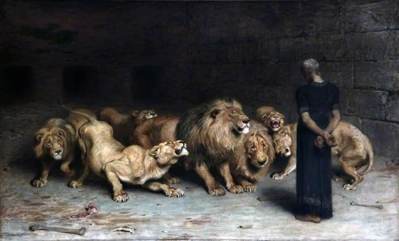 daniel in the den of lions